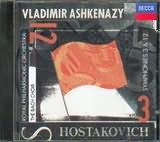 CD image SHOSTAKOVICH SYMPHONIES 3+12