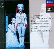 CD image TCHAIKOVSKY / THE NUTCRACKER - OFFENBACH / LE PAPILLON - RICHARD BONYNGE (2CD)