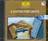 CD image BACH J.S / 4 LUTE SUITES BWV.995 - 997 / GORAN SOLLSCHER (GUITAR)