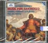 CD image GABRIELI / MUSIC FOR SAN ROCCO / MCCREESH