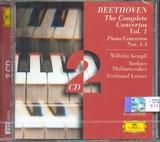 CD image BEETHOVEN / THE COMPLETE CONCERTOS VOL.1 - PIANO CONCERTOS NOS.1 - 4 / KEMPFF (2CD)