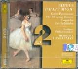 CD image FAMOUS BALLET MUSIC / GAITE PARISIENNE - THE SLEEPING BEAUTY - COPPELIA - LES SYLPHIDES / KARAJAN (2CD)