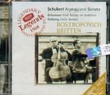 CD image SCHUBERT / ARPEGGIONE SONATA D.821 - DEBUSSY / CELLO SONATA / ROSTROPOVICH - BRITTEN