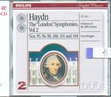CD image HAYDN / THE LONDON SYMPHONIES VOL.2 N 95 - 96 - 98 - 100 - 101 - 104 / BRUGGEN (2CD)