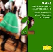 CD image BRAHMS / 21 HUNGARIAN DANCES - SERENADES NOS. 1 - 2 (ABBADO) (2CD)