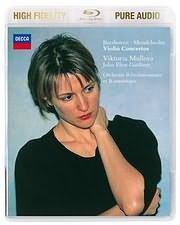 DVD image BLU - RAY AUDIO / BEETHOVEN - MENDELSSOHN / VIOLIN CONCERTOS (VICTORIA MULLOVA - JOHN ELIOT GARDINER)