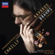 CD image BRAHMS / VIOLIN CONCERTO - HUNGARIAN DANCES / BARTOK / RHAPSODIES (LEONIDAS KAVAKOS - RICCARDO CHAILLY)