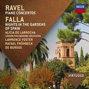 CD image RAVEL / PIANO CONCERTOS - FALLA / NIGHTS IN THE GARDENS OF SPAIN (L. FOSTER - R. FRUHBECK DE BURGOS)