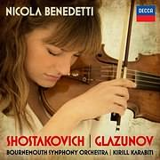 CD image NICOLA BENEDETTI / SHOSTAKOVICH - GLAZUNOV