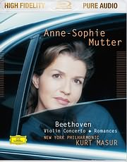 DVD image BLU - RAY AUDIO / ANNE - SOPHIE MUTTER - BEETHOVEN VIOLIN CONCERTO / ROMANCES