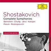 CD image SHOSTAKOVICH / COMPLETE SYMPHONIES (BERNSTEIN, CHUNG, JARVI, KARAJAN, PREVIN, ROSTROPOVICH) (12CD)