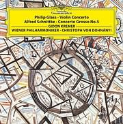 PHILIP GLASS / VIOLIN CONCERTO - SCHNITTKE / CONCERTO GROSSO NO.5 (GIDON KREMER) (VINYL)