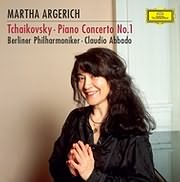 CD image for TCHAIKOVSKY / PIANO CONCERTO NO.1 IN B FLAT MINOR, OP.23, TH.55 (M. ARGERICH, ABBADO) (VINYL)