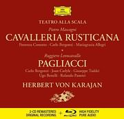 CD image for MASCAGNI / CAVALERIA RUSTICANA - LEONCAVALLO / PAGLIACCI (HERBERT VON KARAJAN) (2CD + BLU RAY AUDIO)