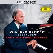 CD + DVD image BEETHOVEN / COMPLETE BEETHOVEN SONATAS (WILHELM KEMPFF) (8CD + BLU RAY AUDIO)