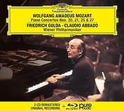 CD image for MOZART / PIANO CONCERTOS NOS 20, 21, 25, 27 (F. GULDA, WIENER PHILHARMONIKER) (2CD + BLU - RAY AUDIO)