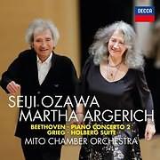 CD image BEETHOVEN / PIANO CONCERTO NO.2 - GRIEG / HOLBERG SUITE (SEIJI OZAWA, MARTHA ARGERICH)