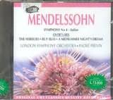 CD image MENDELSSOHN / PREVIN / NO 4