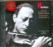 CD image HEIFETZ / BRUCH CONCERTO N 1 - SCOTTISH FANTASY - VIEUXTEMPS / CONCERTO N 5 - ERIC SMITH