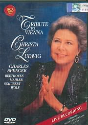 DVD image TRIBUTE TO VIENNA - CHRISTA LUDWIG - CHARLES SPENGER - BEETHOVEN - MAHLER - SCHUBERT - WOLF - (DVD VIDEO)