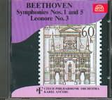 CD image BEETHOVEN / SYMPHPNIES NOS.1 AND 5 OP.21 AND 67 - (ANCERL)