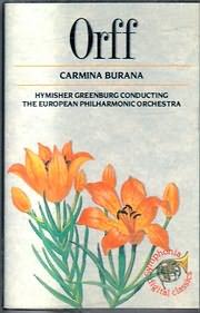 CD image for ORFF KARL / CARMINA BURANA (MC)