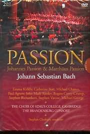 DVD image BACH J.S / JOHANNES AND MATTHAUS PASSIONS / THE BRANDENBURG CONSORT (2 DVD) - (DVD)