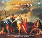CD image TELEMANN / TRIO SONATAS FOR VIOLIN FLUTE B.C - TRIO SONATAS FOR OBOE RECORDER COMPLETE E.T.C (2CD)