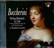 BOCCHERINI / STRING QUINTETS VOL 8 - 3 STRING QUINTETS OP.39 - WITH DOUBLE BASS / LA MAGNIFICA COMUNITA
