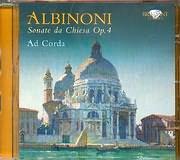 CD image ALBINONI / SONATA DA CHIESA OP 4 - AD CORDA