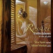 CD image ROSSINI / ARIETTES ITALIANNES FOR VOICE AND GUITAR (SILVIA VAJENTE, ADRIANO SEBASTIANI)