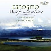 CD image ESPOSITO / MUSIC FOR VIOLIN AND PIANO (CARMELO ANDRIANI, VINCENZO MALTEMPO) (2CD)