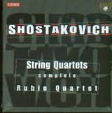 CD image SHOSTAKOVICH / STRING QUARTETS COMPLETE RUBIO QUARTET (5CD)