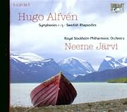 CD image ALFVEN HUGO / SYMPHONIES NOS.1 - 5 - SWEDISH RHAPSODIES - JARVI (5CD)