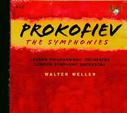 PROKOFIEV / THE SYMPHONIES 1 - 2 - 3 - 4 - 5 - 6 - SCYTHIAN SUITE - WALTER WELLER - L.S.O - L.P.O. (4CD)