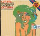 CD image KURT WEILL / THREE PENNY OPERA - LOTTE LENYA - (BRUCKNER) - (OST)