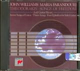 CD image MIKIS THEODORAKIS / JOHN WILLIAMS FARANTOURI - - SONGS OF FREEDOM