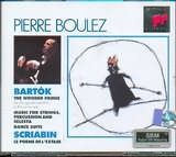 CD image BARTOK / THE WOODEN PRINCE OP.13 - MUSIC FOR STRINGS AND PERCUSSION - DANCE SUITE / BOULEZ (2CD)
