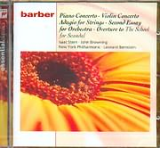 CD image BARBER / PIANO CONCERTO - VIOLIN CONCERTO - ADAGIO FOR STRINGS - SECOND ESSAY FOR ORCHESTRA