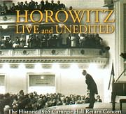 CD + DVD image VLADIMIR HOROWITZ / LIVE AND UNEDITED / THE HISTORIC 1965 CARNEGIE HALL RETURN CONCERT (3 CD BONUS DVD)