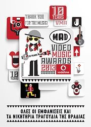 CD image MAD VIDEO MUSIC AWARDS 2013 - (VARIOUS) (2 CD)