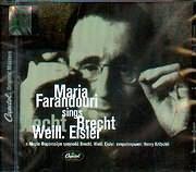 CD image MARIA FARANTOURI / I MARIA FARANTOURI TRAGOUDAEI BREHT WEILL EISLER