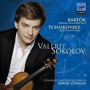 CD image TCHAIKOVSKY - BARTOK / VIOLIN CONCERTOS (VALERY SOKOLOV, TONHALLE - ORCHESTER ZURICH, DAVID ZINMAN)