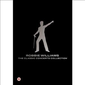 DVD image ROBBIE WILLIAMS - THE CLASSIC CONCERTS COLLECTION (4 DVD) - (DVD)