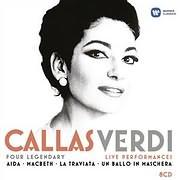 CD image MARIA CALLAS / VERDI / LEGENDARY LIVE PERFORMANCES: AIDA, MACBETH, TRAVIATA, UN BALLO IN MASCHERA (8CD)