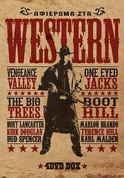 CD Image for �������� ��� WESTERN (VENGEANCY VALLEY - ONE EYED JACKS - THE BIG TREES - BOOT HILL) (4DVD) - (DVD)