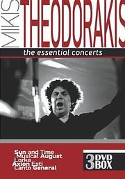 DVD image ΜΙΚΗΣ ΘΕΟΔΩΡΑΚΗΣ - THE ESSENTIAL CONCERTS (ΗΛΙΟΣ ΚΑΙ ΧΡΟΝΟΣ, ΑΞΙΟΝ ΕΣΤΙ, CANTO GENERAL) (3DVD) - (DVD)