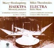 CD image MIKIS THEODORAKIS / ILEKTRA - MOUSIKI BALETOU - SYMFONIKI ORHISTRA LONDINOU - DIEYTHYNEI O SYNTHETIS