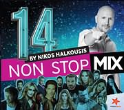 CD image NON STOP MIX 14 BY NIKOS HALKOUSIS - (VARIOUS)