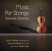 CD image ΣΑΒΒΑΣ ΖΑΝΝΑΣ - L ANIMA STRING QUARTET / MUSIC FOR STRINGS - ΜΟΥΣΙΚΗ ΓΙΑ ΒΙΟΛΙ